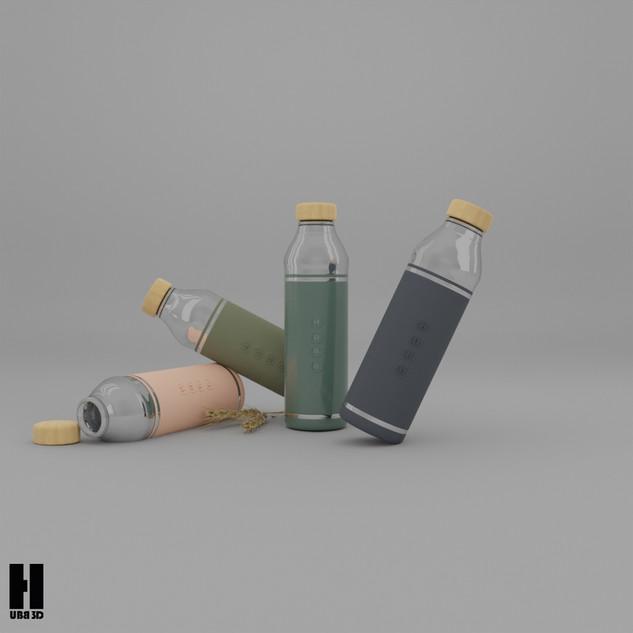 3D Şişe Animasyonu ve Tasarımı