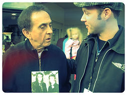 Ryan Stone chatting with George Klein. Memphis DJ & life long friend of Elvis Presley
