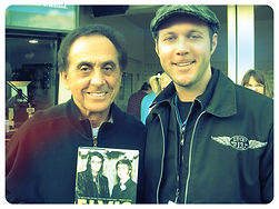 Ryan Stone Posing with George Klein. Memphis DJ & life long friend to Elvis Presley.
