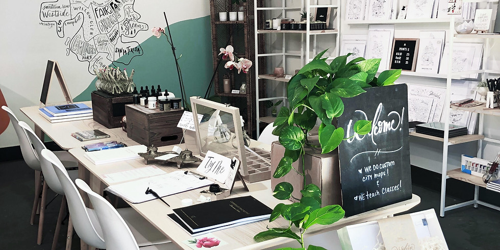 8/8: First Calligraphy Meetup @ TC Art Shop: Gathering, Tools and Drinks!