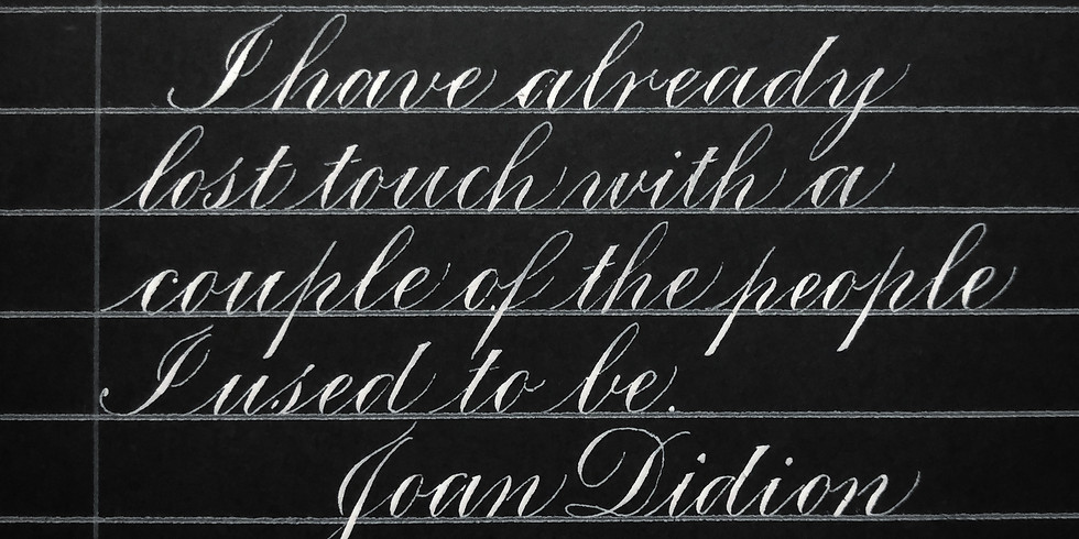 7/13: Introduction to Copperplate with Ellie Camp