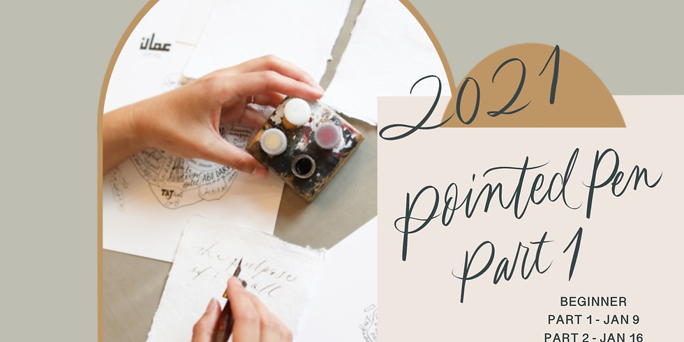 01/09: Pointed-Pen Calligraphy for Beginners, Part 1 (Virtual Calligraphy Class)