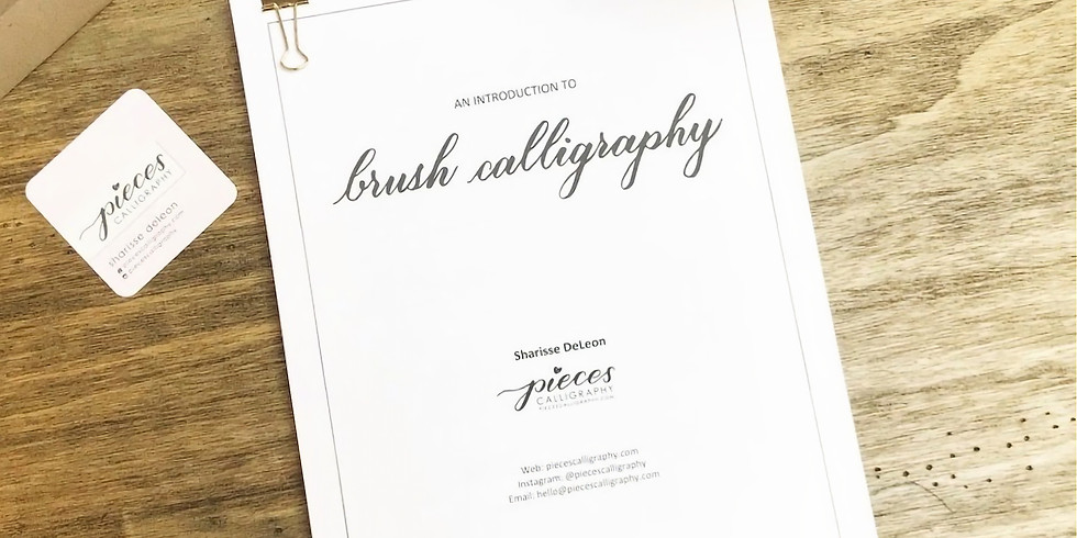 2/9: Brush Calligraphy (mini-workshop) PM class w/ Sharisse DeLeon (@piecescalligraphy)