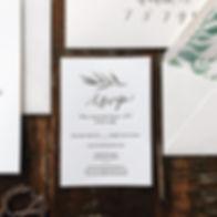 RSVP Card Modern Wedding Invitation