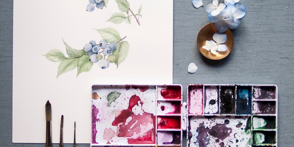 6/30: Floral Watercolor Workshop with Ruth Jahja-Daro