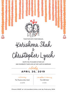Indian Wedding Invite, 2019