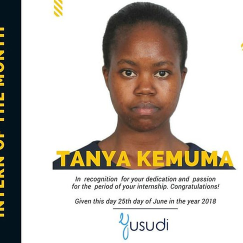 Intern of The Month: Tanya Kemuma