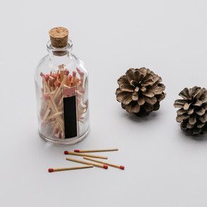 Matches in the bottle.