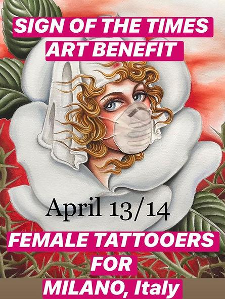 Ladies Ladies art show 2020 benefit for Milano, Italy
