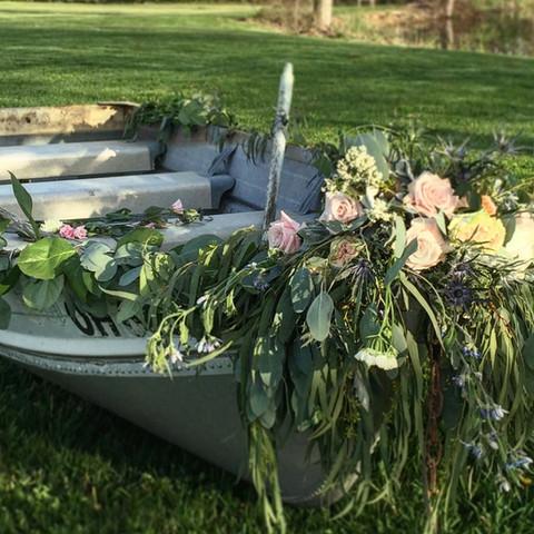 Floral Boat Installation