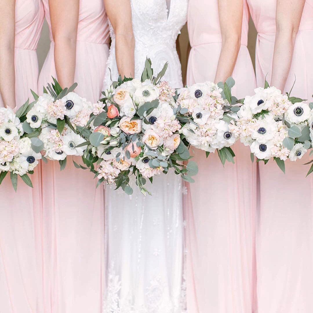 Blushing Bridal Party