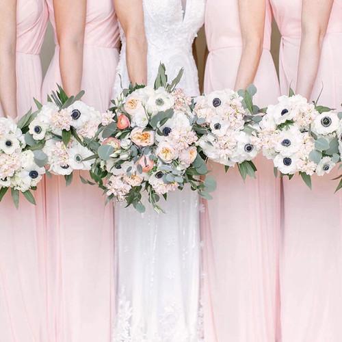 Blushing Bridal Party