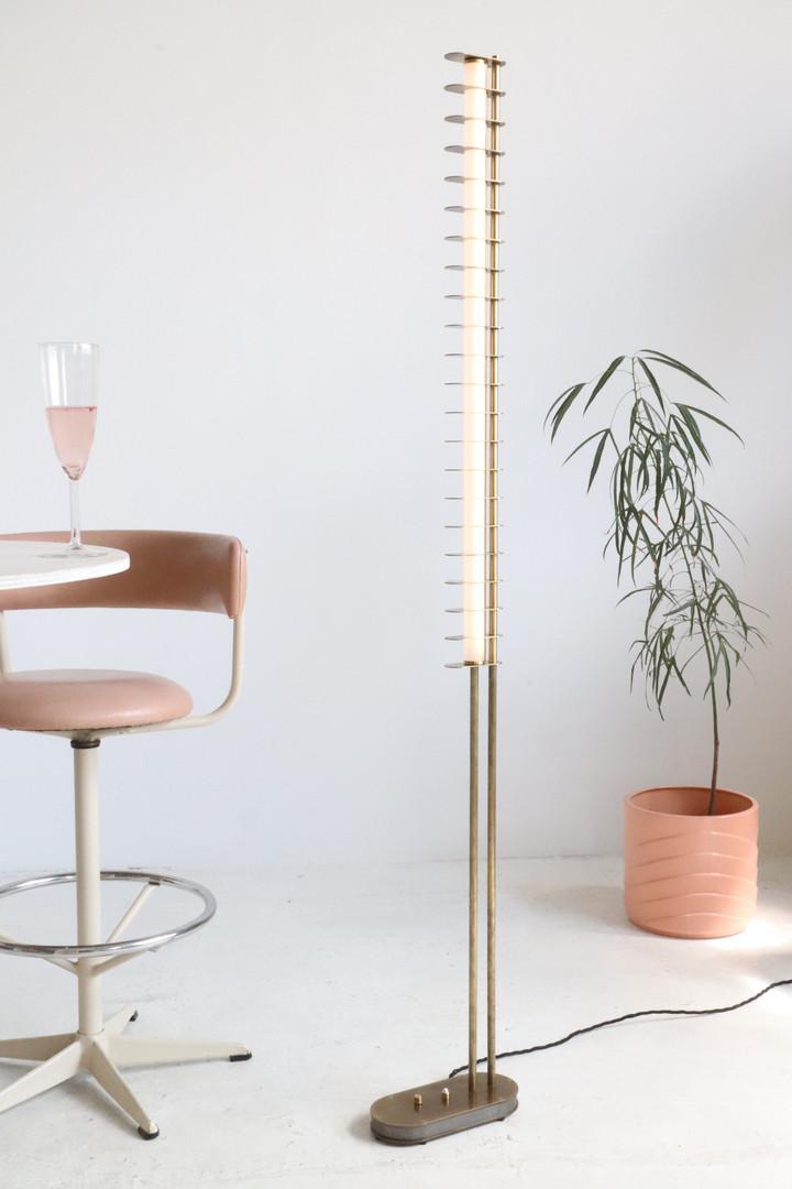 Distance Floor Lamp, Aged Brass