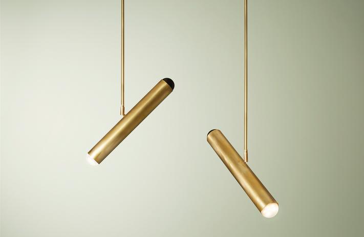 Surveillance Pendant (x2) in Blonde Brass