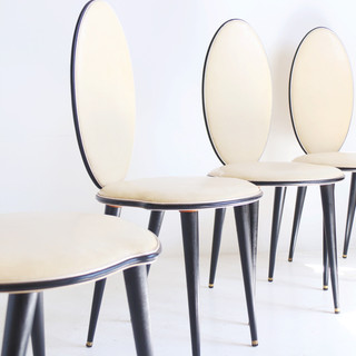 Set of 4 dining chairs by Umberto Mascagni