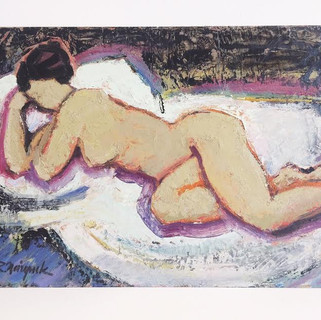 Painting of a resting nude