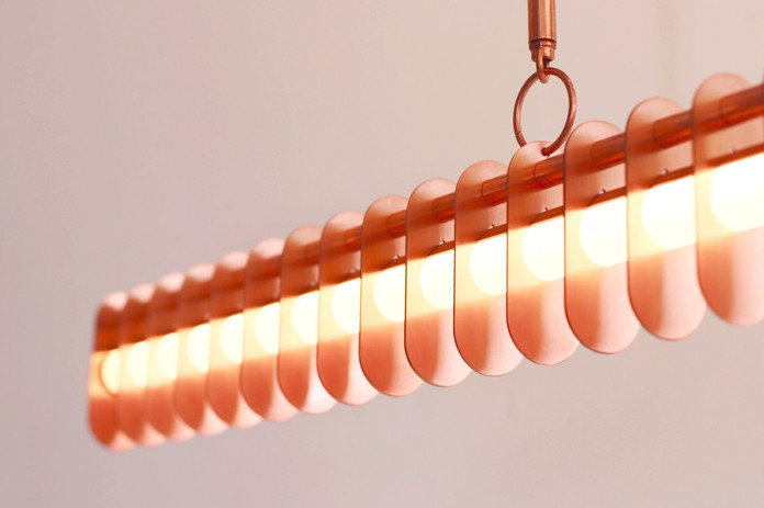 Distance 1800mm, Brushed Copper