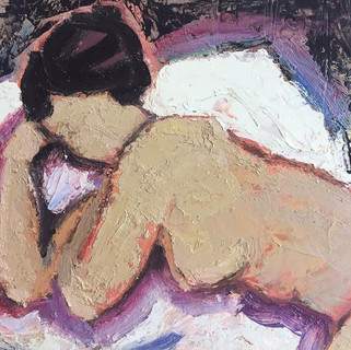 Painting of a resting nude (Detail)
