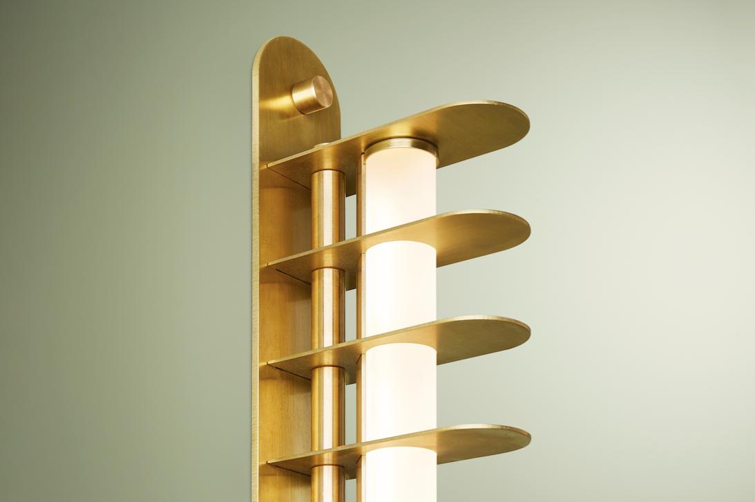 Distance Wall Sconce, Blonde Brass