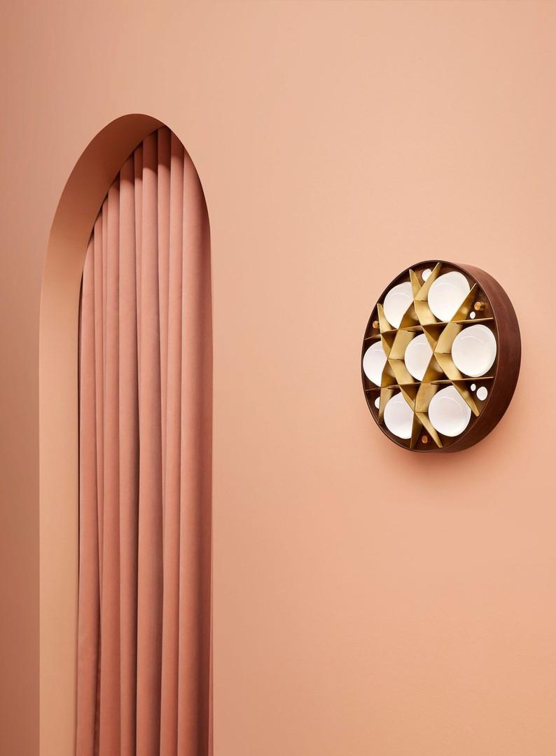 Surgeon Wall Sconce, Dark Bronze and Blonde Brass