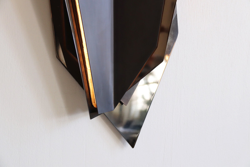 Continuum Wall Sconce, Dark Bronze and Black Chrome combination finishes