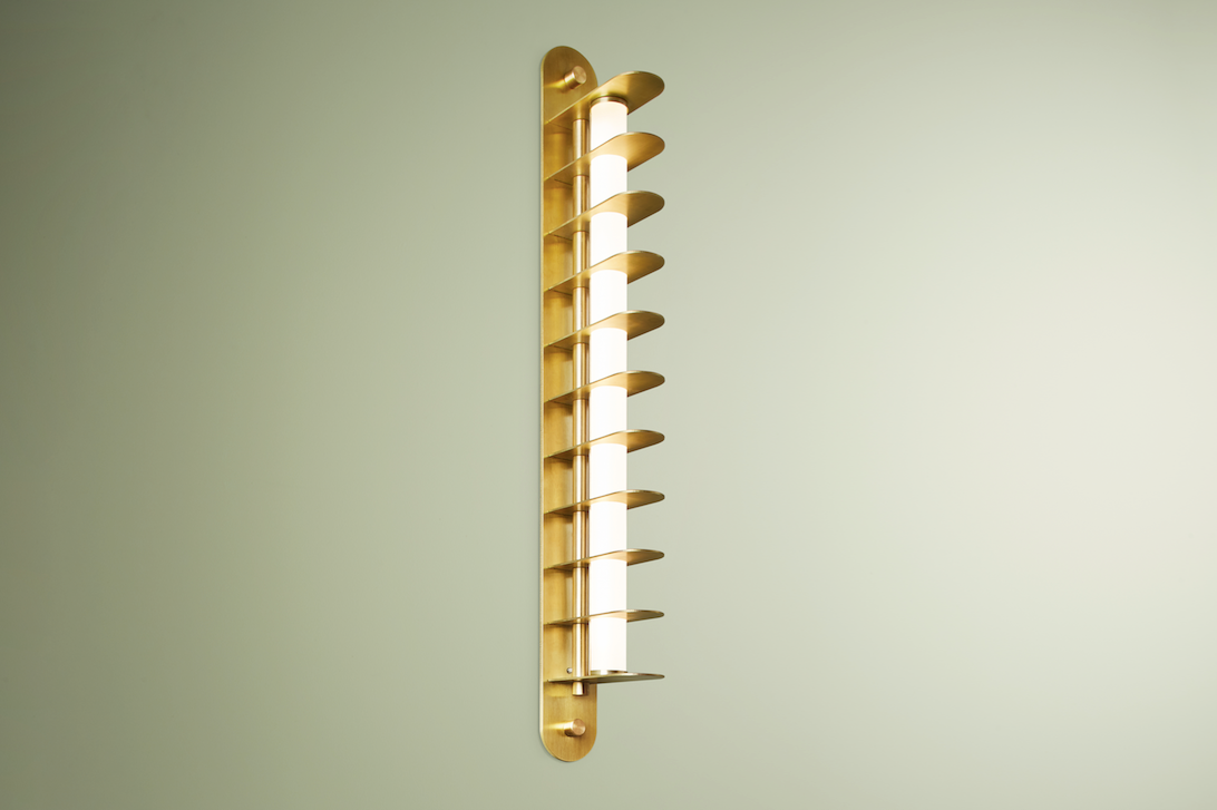 Distance Wall Sconce 450mm, Blonde Brass