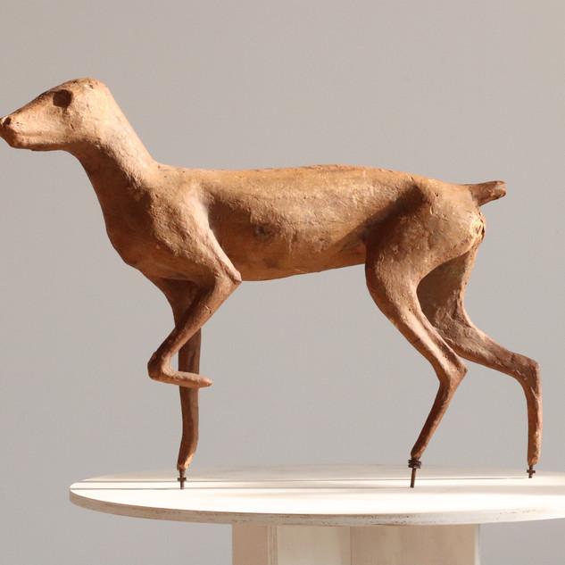 Papier Mache fox form