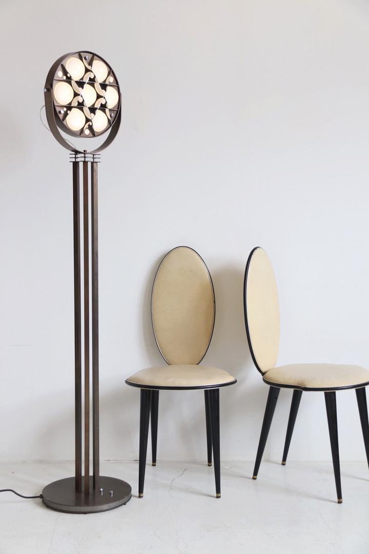 Surgeon Floor Lamp - Dark Bronze & Chrome