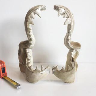 Fibreglass shark jaws