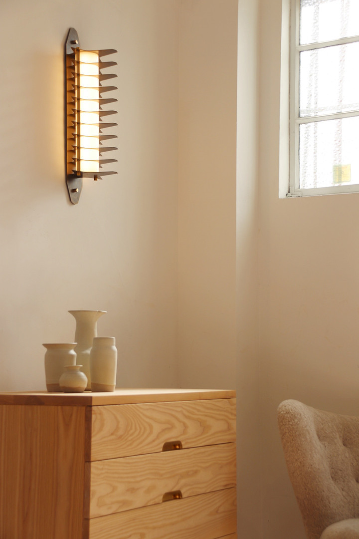 Colossal Wall Sconce 450mm, Aged Brass