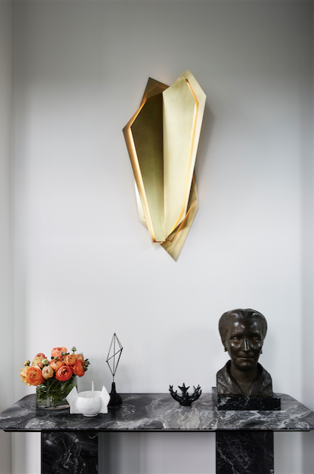 Continuum Wall Sconce, Blonde Brass