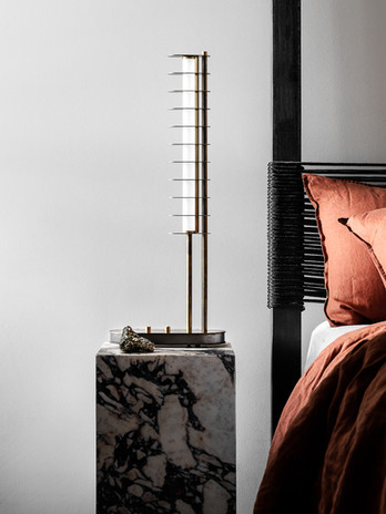 Distance Table Lamp - Aged Brass