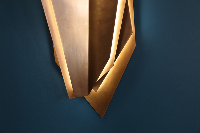 Continuum Wall Sconce, Aged Brass