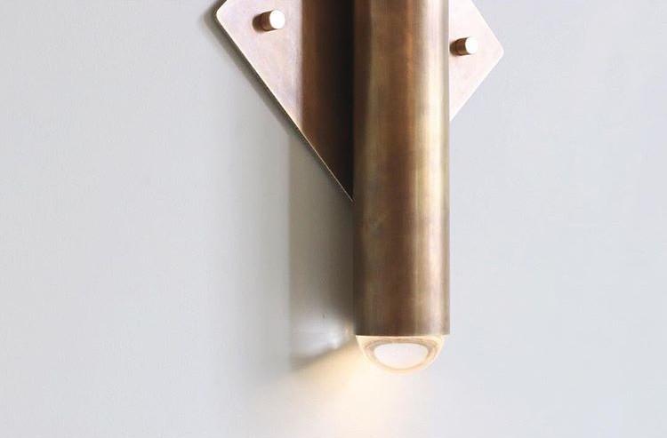 Surveillance Wall Sconce, Aged Brass