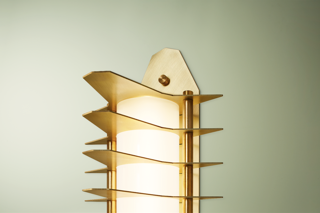 Colossal Wall Sconce, Blonde Brass