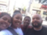 family on a wacky walk tour