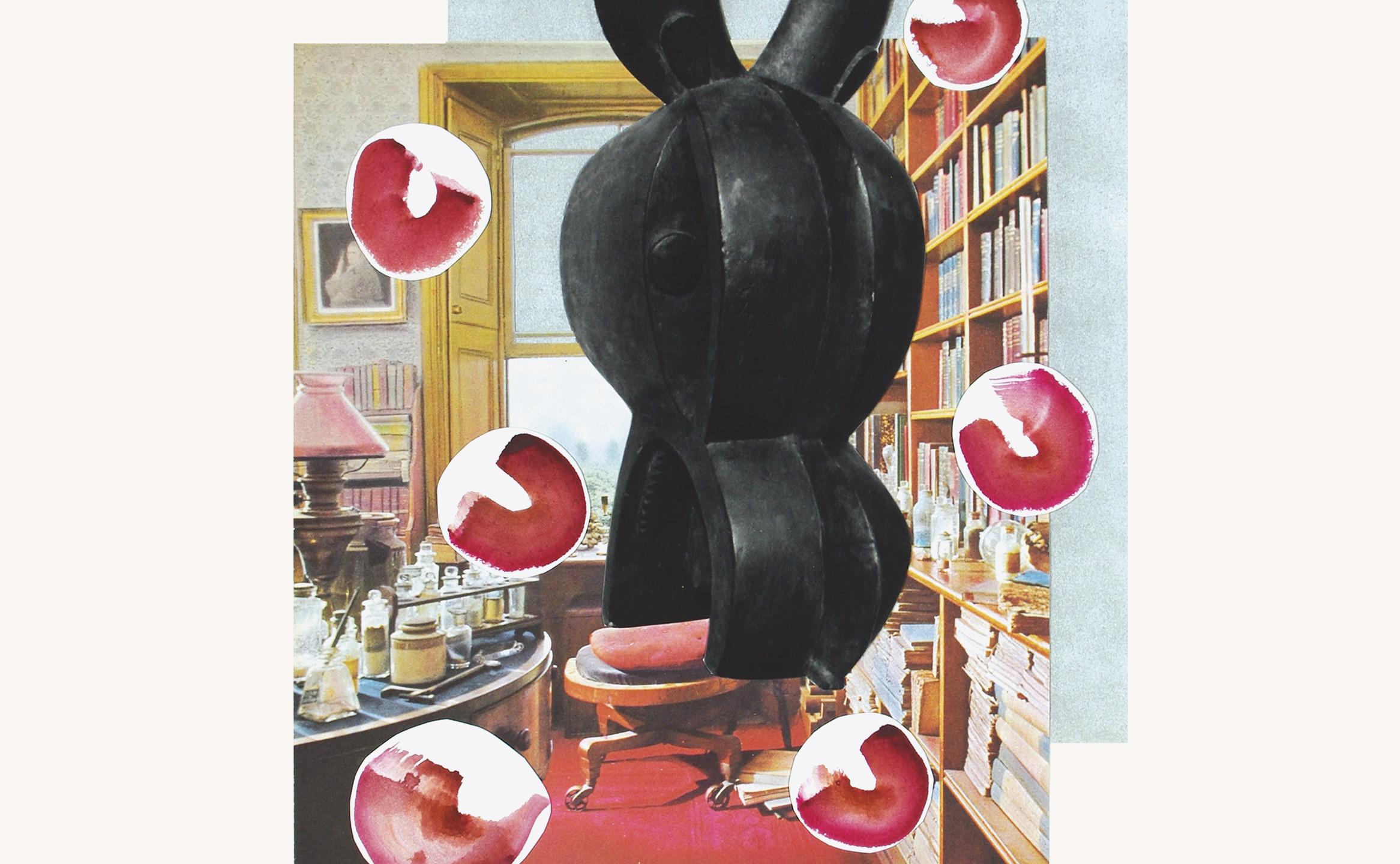 Darwins Room, Larita Engelbrecht, Mixed Media Collage on Paper, 48 x 37cm (2333x3000)