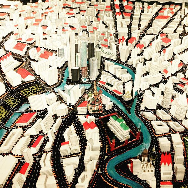 Titus Matiyane's hand drawn maps are so compelling. He reorders cities, from vantage points that are impossible to the naked eye