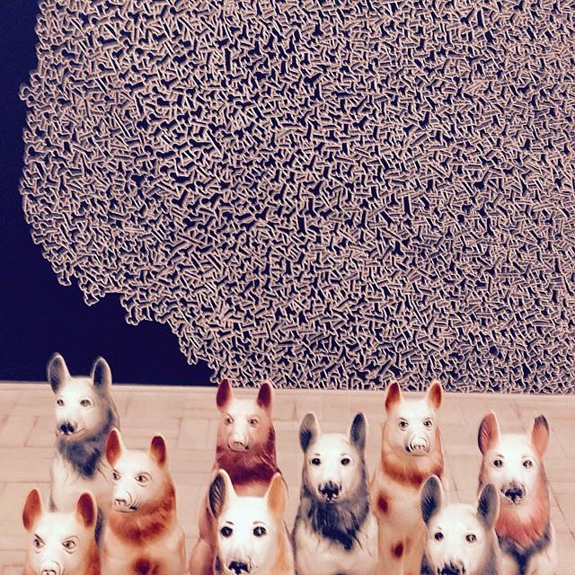 Ceramic dog school. Kemang wa Lehulere _ Stevenson Gallery. Fantastic show. Really