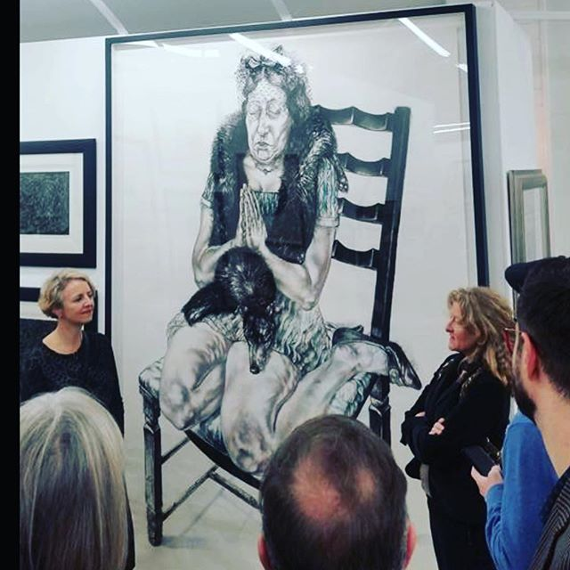 Diane Victor and I in conversation about an Untitled work featuring a middle aged woman trying to hold onto, being limited by, her appearanc