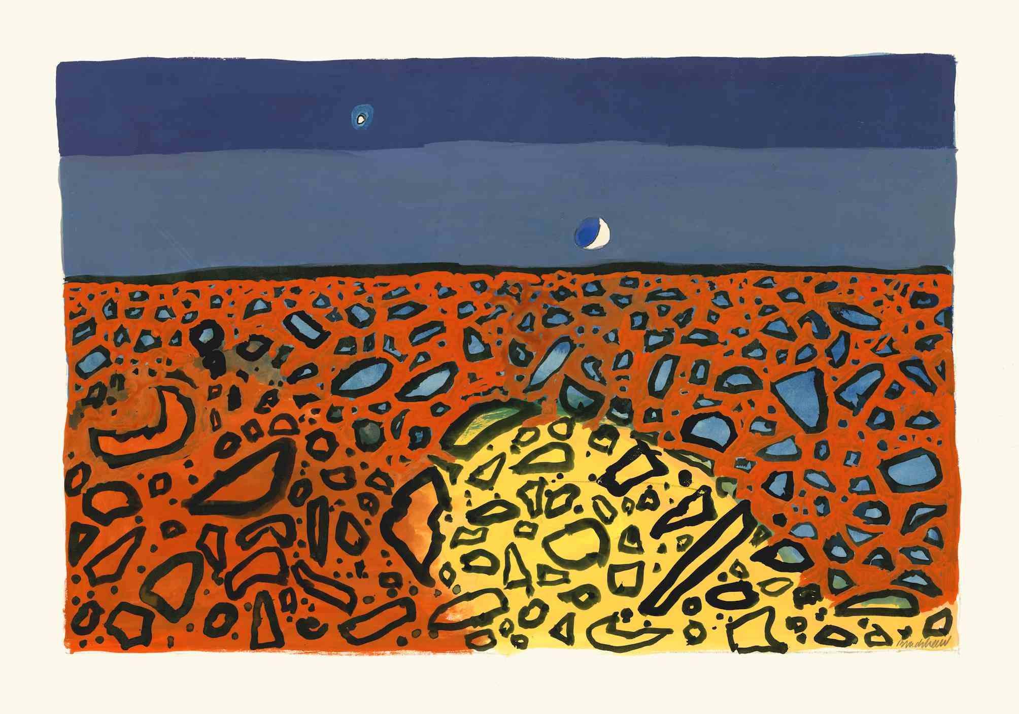Bradshaw, Desert Moon, 42,59cm