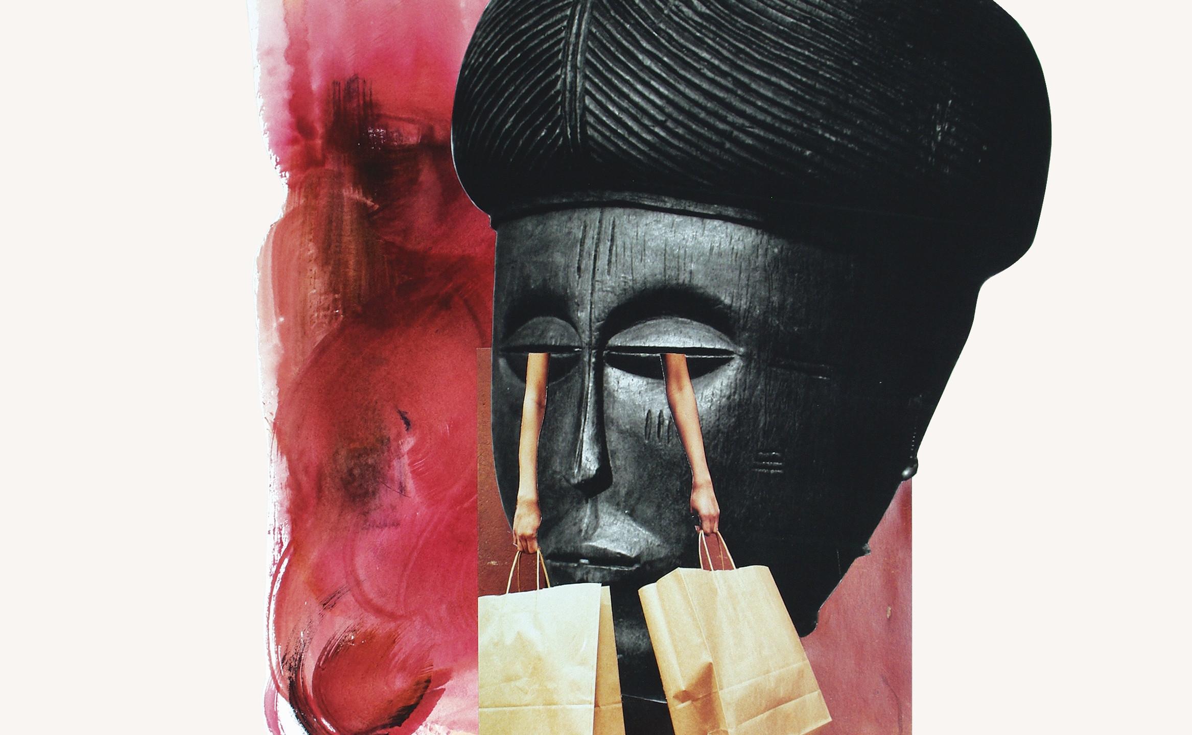 Crybaby, Larita Engelbrecht, Mixed Media Collage on Paper, 48 x 37cm (2333x3000)