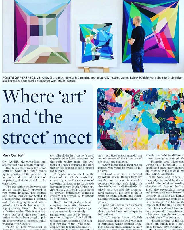 Abstract art and street culture are not as diametrically opposed as you would think..
