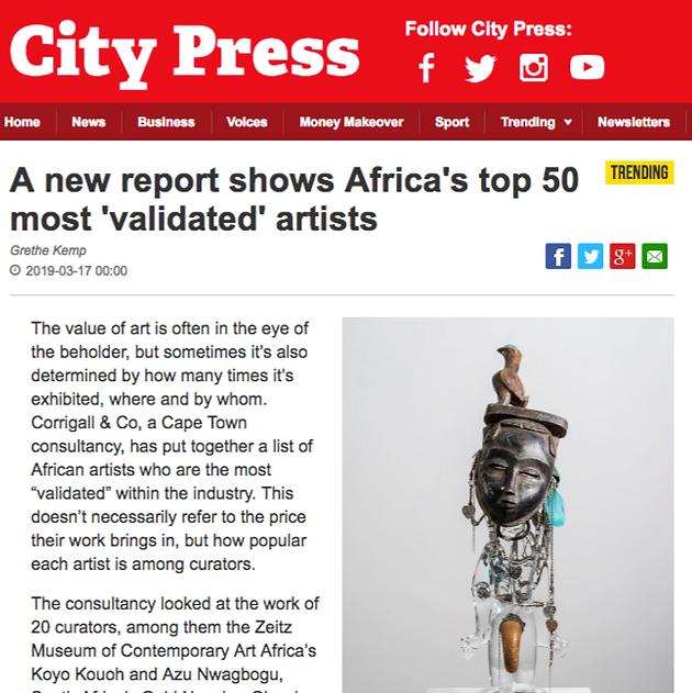 SA Press review TOP 50 Art Report | African Art Advisory
