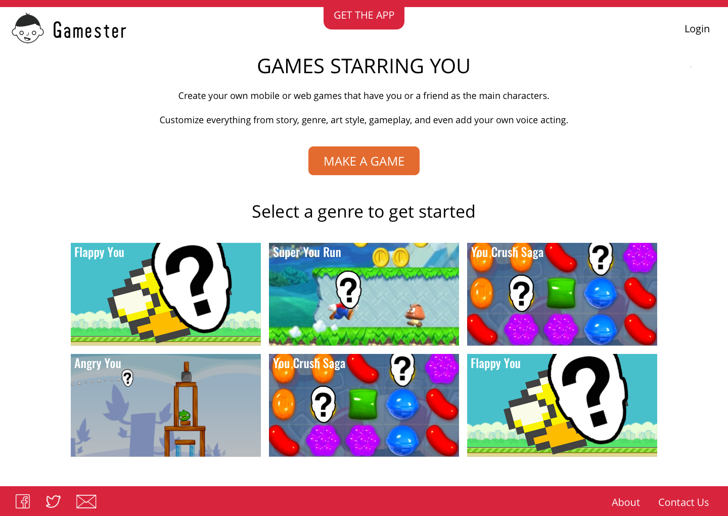 Redesigned Gamester Website