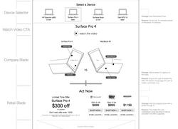 Desktop Wireframe Option 1