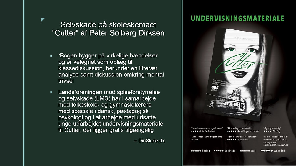 Cutter Peter Solberg Dirksen undervisningsmateriale Tove Staugaard folkeskolen.dk Hanne Birgitte Jørgensen