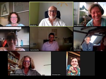 Erfa-Meeting per Videokonferenz.