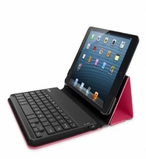 Belkin Bluetooth Keyboard Case For Ipad Mini In Black/Pink