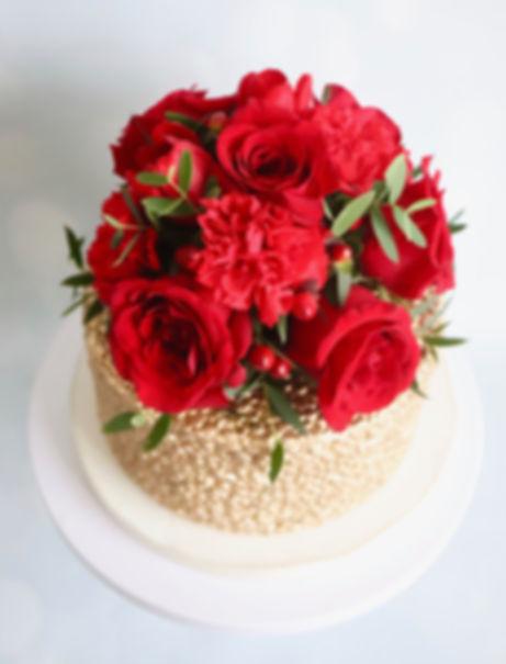 Wedding sequin cake